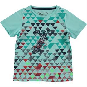 Cvl Erkek Çocuk Tişört 2-5 Yaş Mint Yeşili