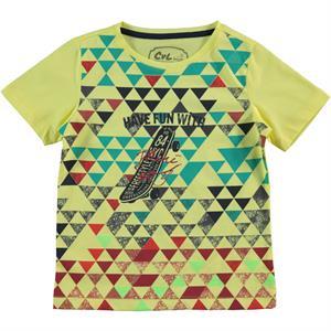 Cvl Erkek Çocuk Tişört 2-5 Yaş Sarı