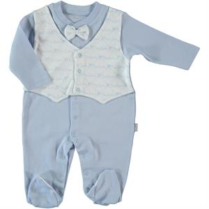 Pierre Cardin Oh Baby 3-9 Months Baby Boy Blue Overalls Booty