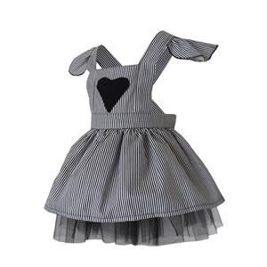 Shecco Babba Girls Dress-Hearted, Black-And-White (2)