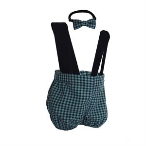 Shecco Babba Boy Winter Overalls Shorts - Bow Tie - Navy Blue Yesil