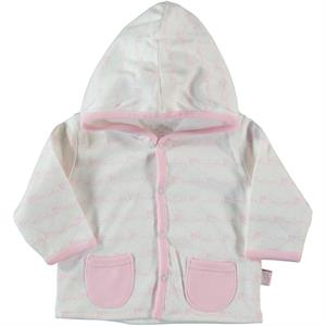 Pierre Cardin 3-12 Months Baby Pink Hooded Cardigan