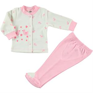 Civil Baby Team Baby Pajamas Pink 0-6 Months