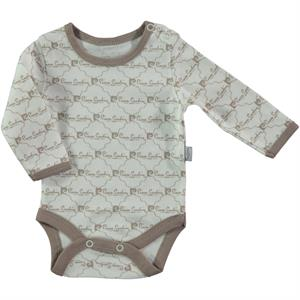 Pierre Cardin Baby 0-36 Months Brown Bodysuit With Snaps