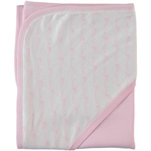 Pierre Cardin Double layer Pink Baby Blanket 90 x 75 cm