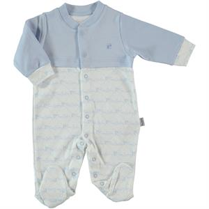 Pierre Cardin Oh Baby's Baby Booty Blue Overalls 0-6 Months