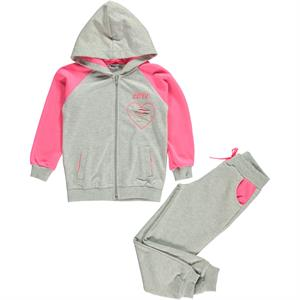 Cvl Gray Hooded Sweat Suit Girl Age 6-9