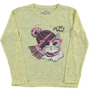 Cvl Age 6-9 Yellow Girl Kids Sweatshirt