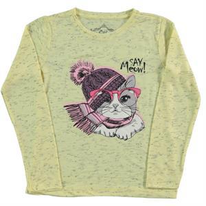 Cvl Kız Çocuk Sweatshirt 6-9 Yaş Sarı