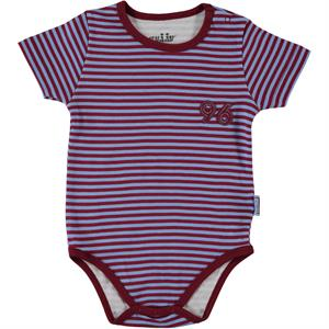 Kujju Badi12 Of Snappers Baby Boy Striped-Burgundy, 24 Months