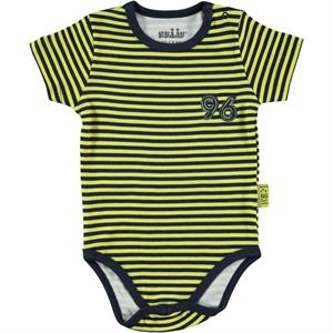 Kujju 3-9 Months Baby Boy Navy Blue Striped Snappers Of Badi