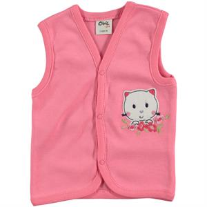 Civil Baby Powder Pink Vest For Baby Girl 3-12 Months