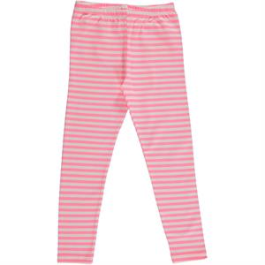 Cvl Pink Striped Tights Child Age 6-9 Girl