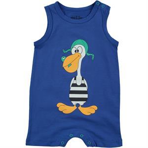 Kujju 3-12 Months Baby Boy Blue Jumpsuit Saks Patiksiz
