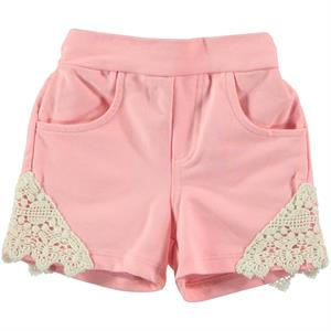 Kujju Powder Pink Shorts Baby Girl 6-18 Months