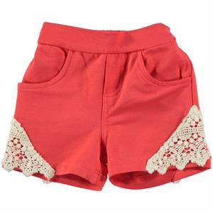Kujju Tongue In Cheek Baby Girl Shorts, 6-18 Months