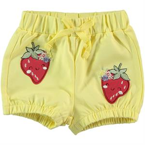 Kujju The Ages Of 6-18 Baby Girl Yellow Shorts