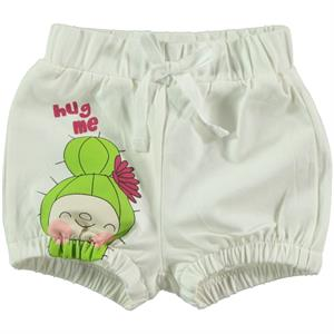 Kujju Baby Girl Ecru Shorts The Ages Of 6-18