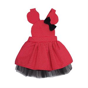 Shecco Babba Q. Dad Girl Boy Clothes Age 1-4 Red Cute Mini Polka Dots