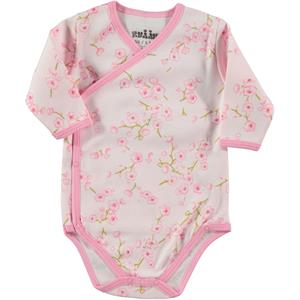Kujju 1-6 Months Baby Girl Pink Bodysuit With Snaps