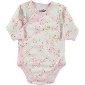Kujju Ecru 1-6 Months Baby Girl Bodysuit With Snaps