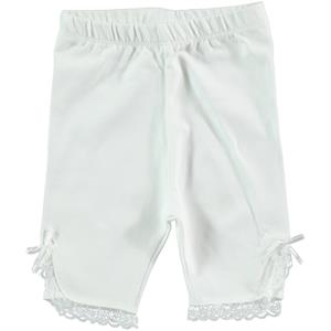 Kujju Baby Girl Ecru Short Lace Tights 6-18 Months
