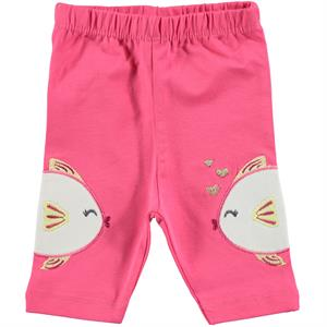 Kujju Baby Girl Short Tights 6-18 Months Fuchsia
