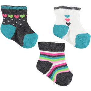 Civil Baby Baby girl 3-Gray Sock Set 0-12 months