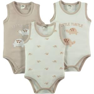 Civil Baby Baby 3-0-12 months Brown Bodysuit with snaps