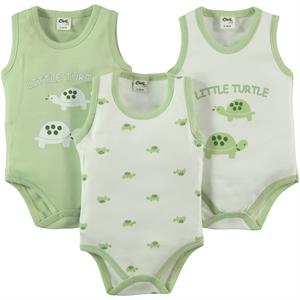 Civil Baby Baby 3-0-12 months Bodysuit with snaps Yesil