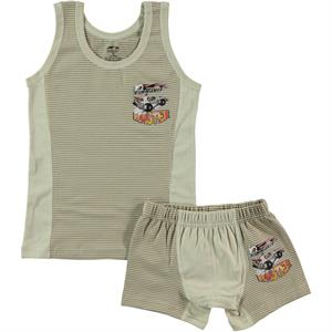 Şahin Team Brown Boy Underwear The Ages Of 3-9