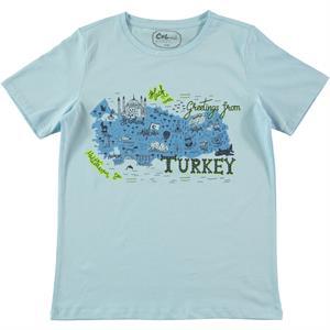Cvl Erkek Çocuk Tişört 10-13 Yaş Mavi