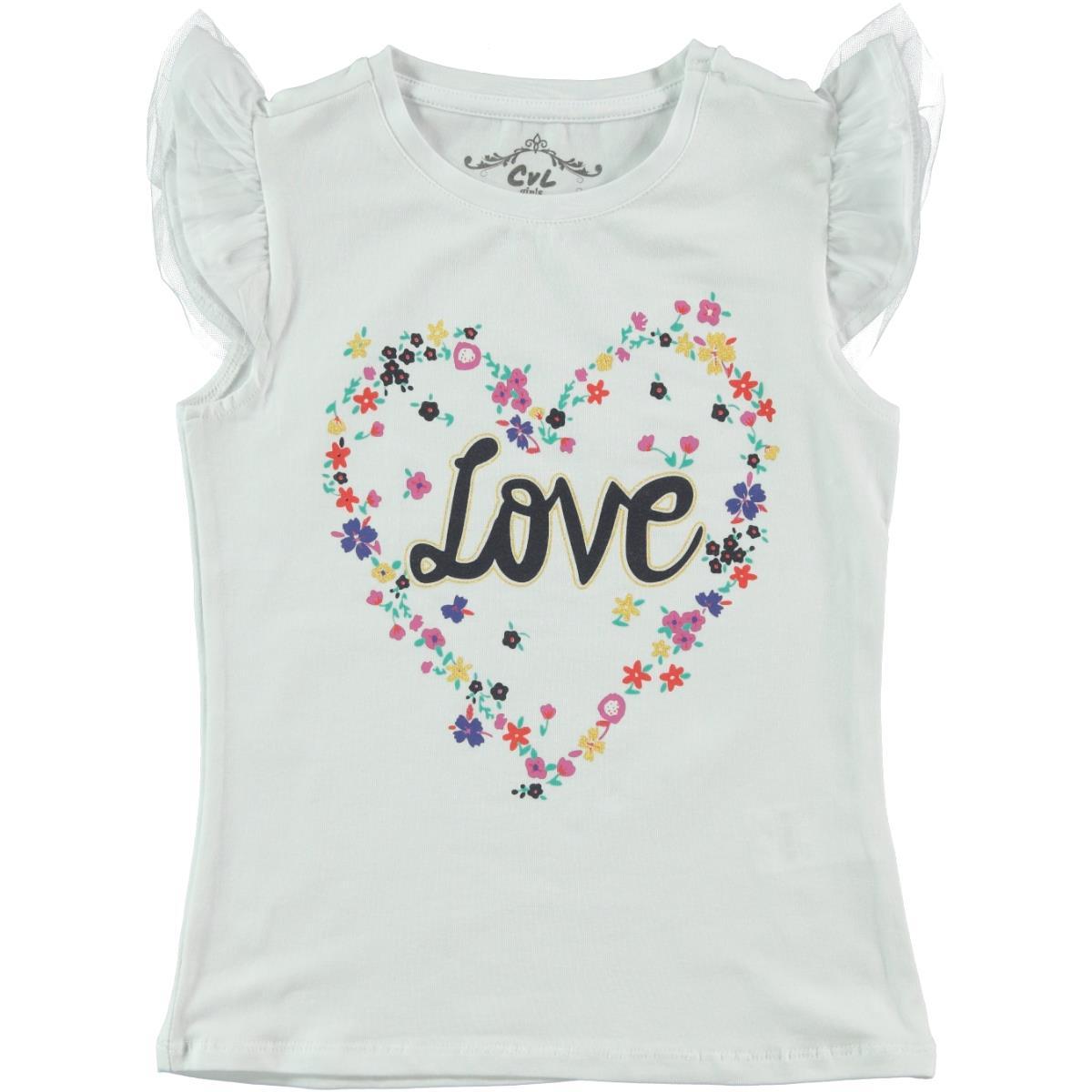 Cvl Kids Girl T-Shirt 6-9 Years Old, White