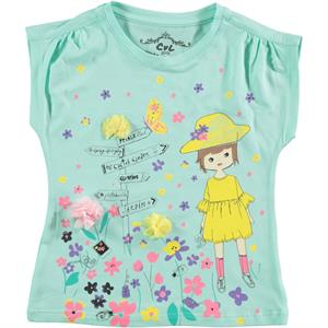 Cvl Girl Kids T-Shirt Mint Green Age 2-5
