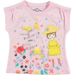 Cvl Girl Kids T-Shirt Pink 2-5 Years
