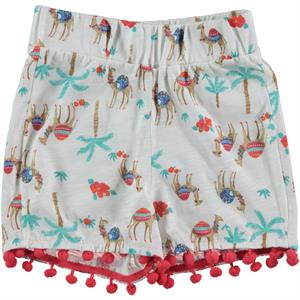 Cvl Pompom Shorts Ecru 2-5 Years Girl
