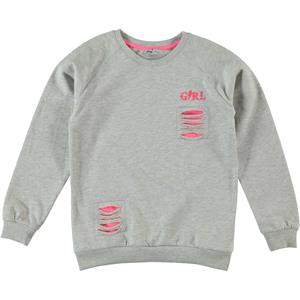 Cvl Sweatshirt Gray Kids Girl Age 10-13