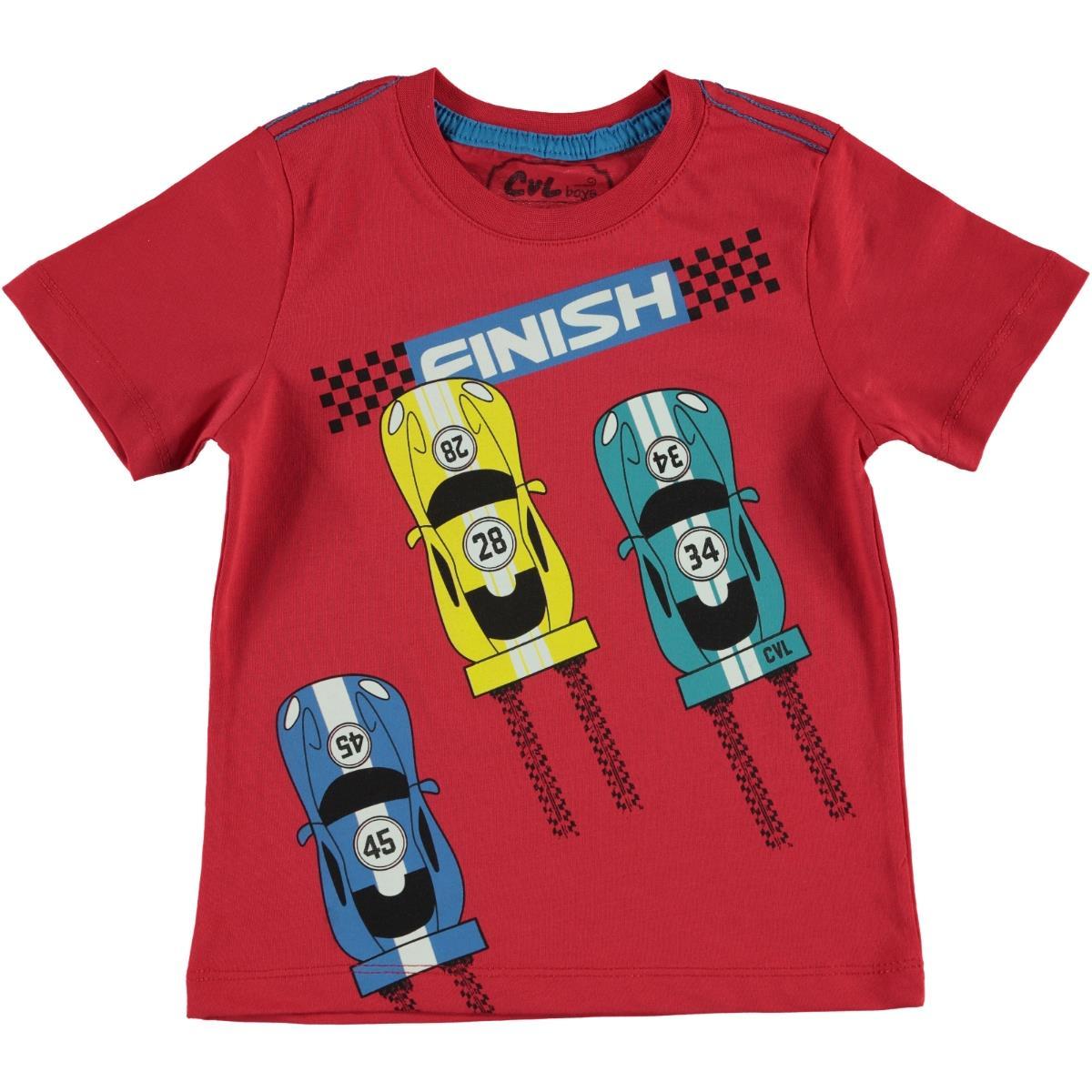Cvl Boy T-Shirt Red Age 2-5