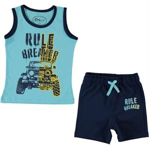 Cvl The Team In Turquoise Boy Shorts Ages 2-5