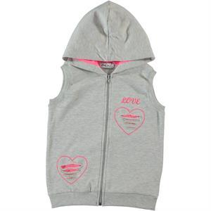 Cvl Gray Hooded Vest Girl Age 6-9