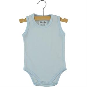 Kujju 0-1 Month Blue Baby Bodysuit With Snaps
