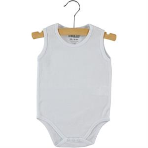 Kujju Baby Bodysuit With Snaps-White, 3-9 Months