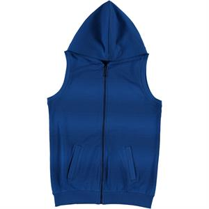 Cvl Saks Vest Blue Hooded Boy Age 10-13