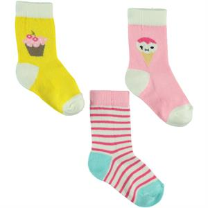 Civil Baby Baby girl 3-Socks Pink 0-12 months