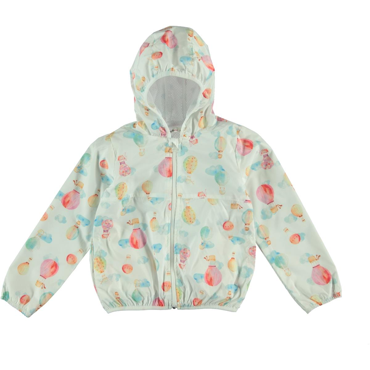 Civil Girls Ecru Hooded Raincoat-Age 6-9 Girl