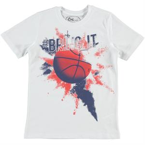 Cvl Boy T-Shirt White Ages 6-9