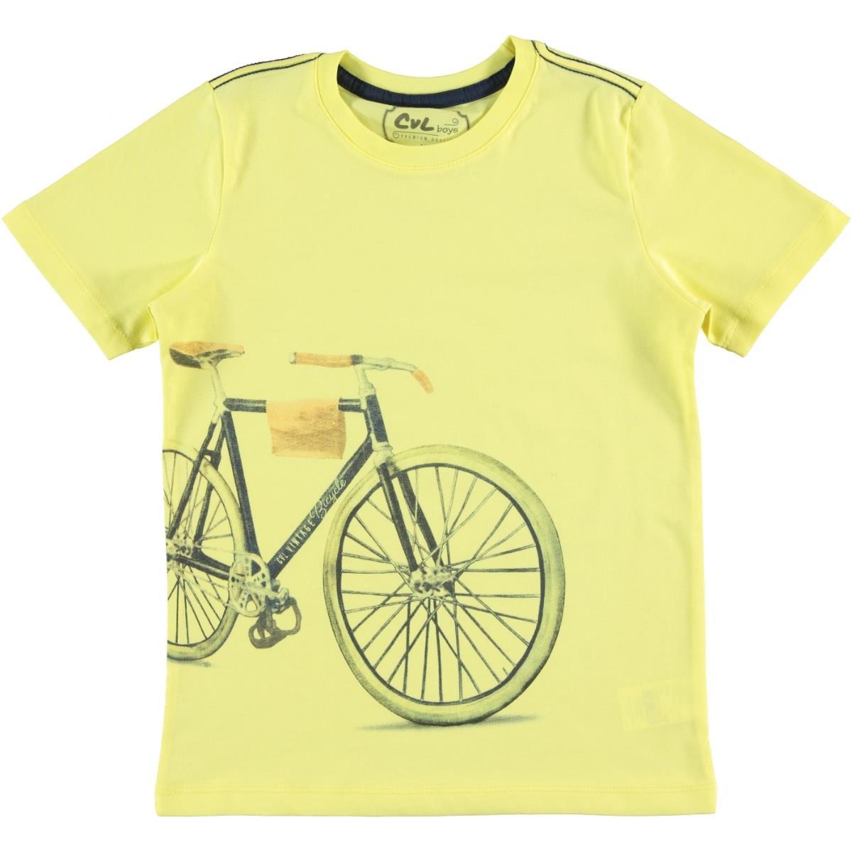 Cvl Boy T-Shirt Age 6-9 Yellow