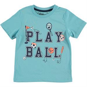 Cvl Boy T-Shirt Turquoise-2-5 Years