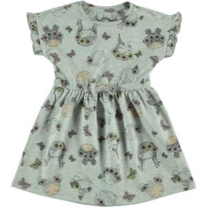 Cvl Gray Girl Dress For 2-5 Age