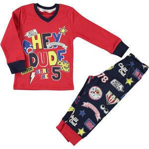 Roly Poly Pajama Boy Age 1-4 Red Team